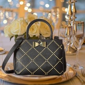 Betsey Johnson Heat Seal Satchel Handbag Bow